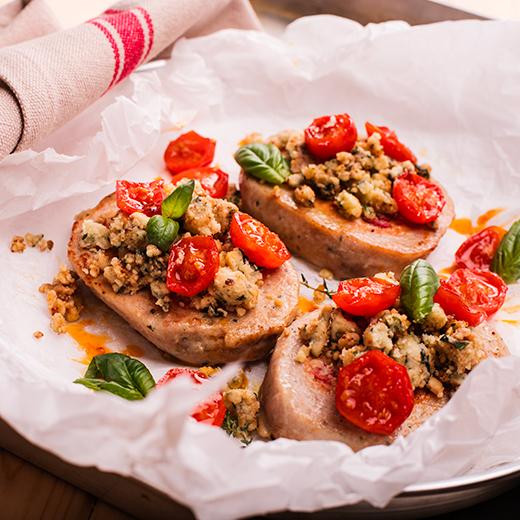 BonRoll di AIA Food, Agricola Italiana Alimentare, con pomodorini e basilico