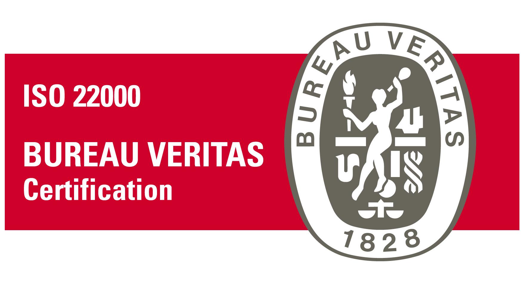 Certificazione di prodotto Bureau Veritas per il sistema di gestione sicurezza alimentare