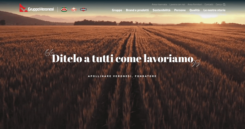 Gruppo Veronesi header sito corporate