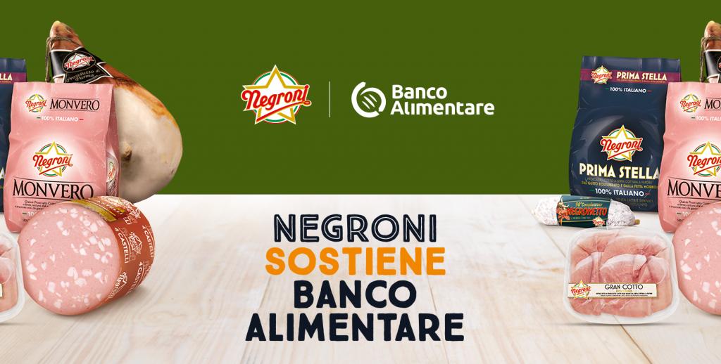 Visual dell'iniziativa Negroni sostiene Banco Alimentare