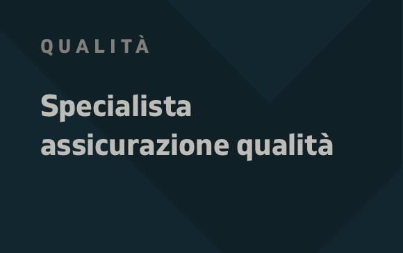 Annuncio specialista assicurazione qualità