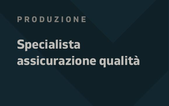 Specialista Assicurazione Qualità